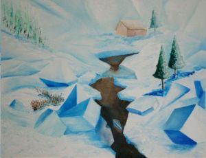 Kubistisch ijslandscap