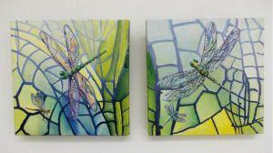 Libelles 30 x 30 cm