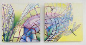 Libelles 50 x 50 cm