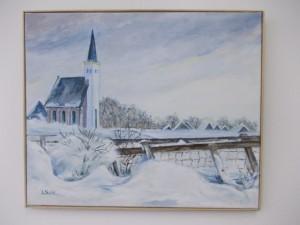 Sneeuwlandschap Hoornder kerkje